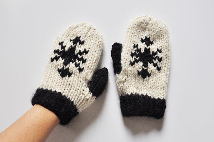 Tricoter des moufles en rond avec des aiguilles circulaires – Julypouce tricote
