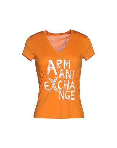 ARMANI EXCHANGE Women's T-shirt Orange XL INT