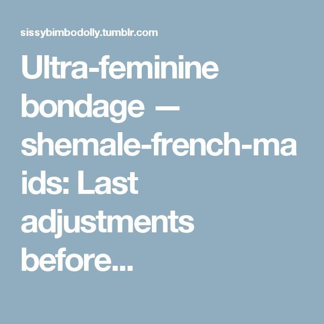 Ultra-feminine bondage — shemale-french-maids: Last adjustments before...