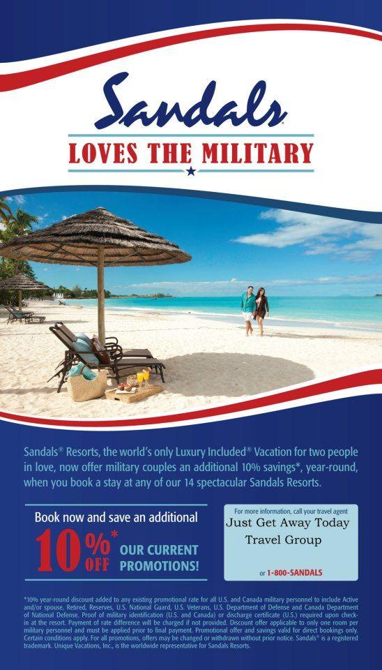 Sandals Resort Military Discount Buca Di Beppo Coupon