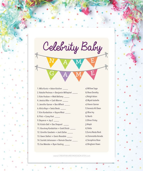 Instant Download Baby Shower Celebrity by CreativeUnionDesign