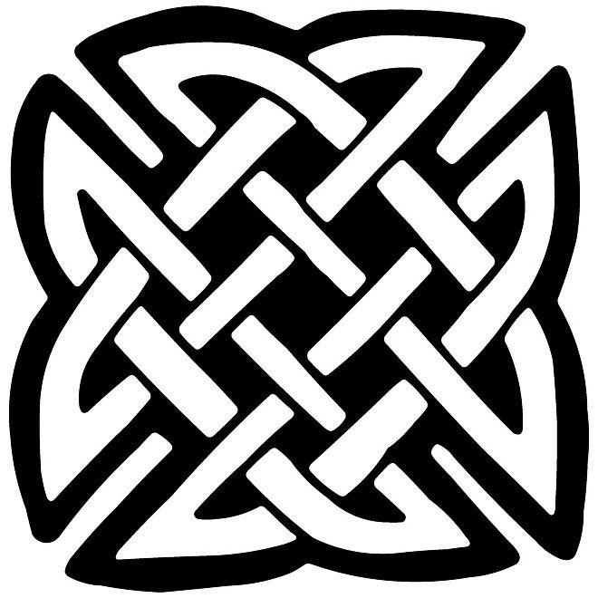 Download CELTIC KNOT VECTOR DECORATION | Celtic knot, Celtic, Line art