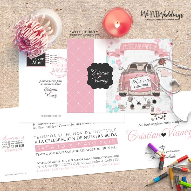 Sweet Journey Wedding Invitation - WeLoveWeddings.com.mx