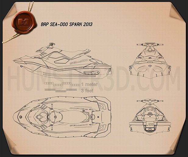 BRP Sea-Doo Spark 2013 Blueprint