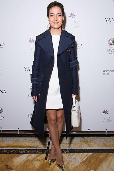 #KseniaChilingarova #fashion #style #coat #celine #dress #carven