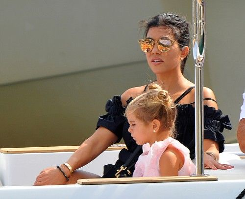 Kourtney Kardashian vacations with her daughter Penelope in Portofino, Italy on September 5, 2016