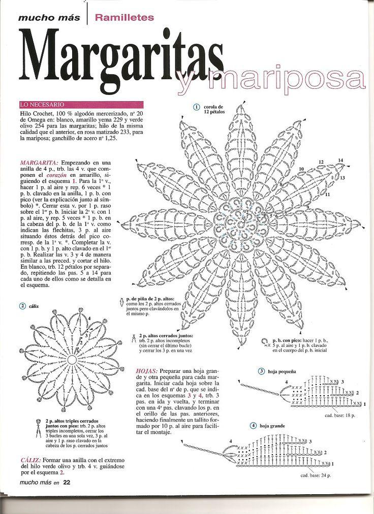M s de 1000 ideas sobre estrellas de ganchillo en - Esquema punto estrella crochet ...