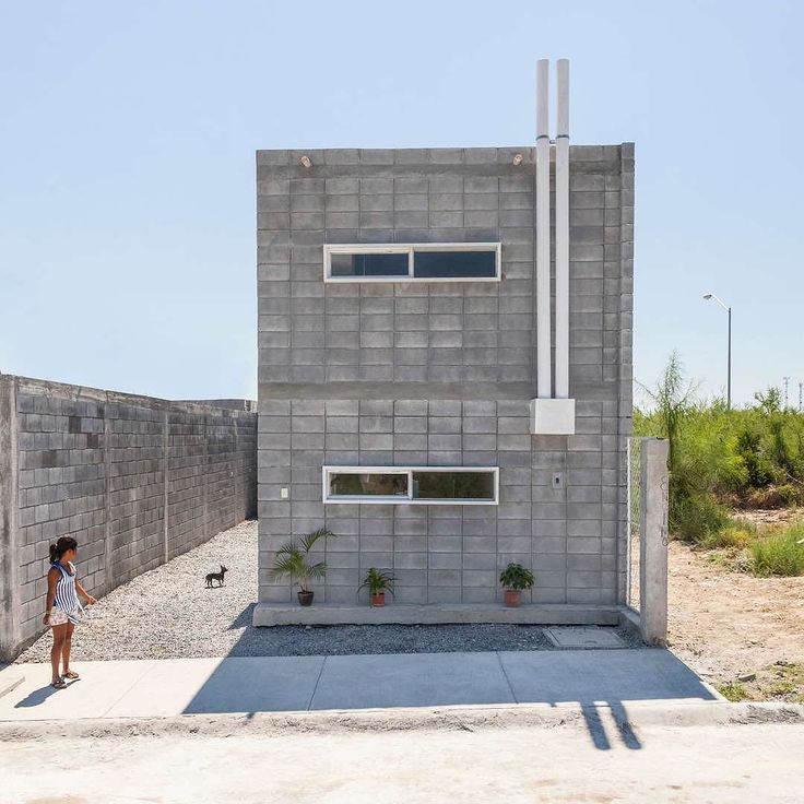 Casa Caja was designed by Monterrey-based S-AR (@stacionar) and built by its future owner Jesus a construction worker who had never had a proper home for his family before/ Read the full story of Comunidad Vivex S-AR's nonprofit organization in Architizer's column 'Tiny Revolutions' by architizer