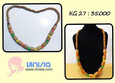 Belanja Aksesoris Wanita Online: [KG 027] kalung manik kayu