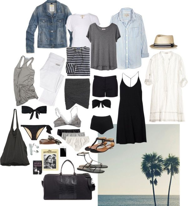 """""""Packing for the Beach"""" by coffeestainedcashmere ❤ liked on Polyvore"""