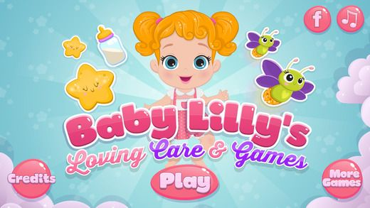 Play mom for the cutest toddler ever in Baby Lilly's Love and Caring game! #Games #baby #lilly #girlgames #transylgamia #appstore #iosgames