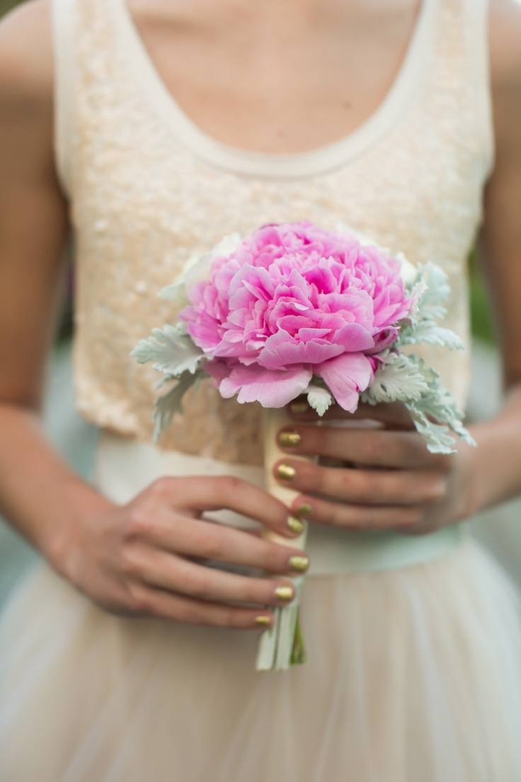 106 best flowers and plants images on pinterest flowers pink gorgeous simple pink peony bridesmaid wedding bouquet izmirmasajfo