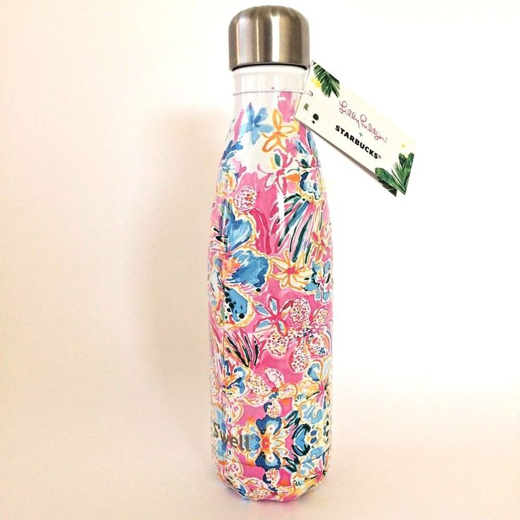 Lilly Pulitzer + Starbucks S'well Limited Edition Bottle 17oz Stainless Steel #Swell #lillyPulitzer #starbucks