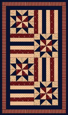 free pattern - Patriotic Tablerunner from this-n-that fabrics