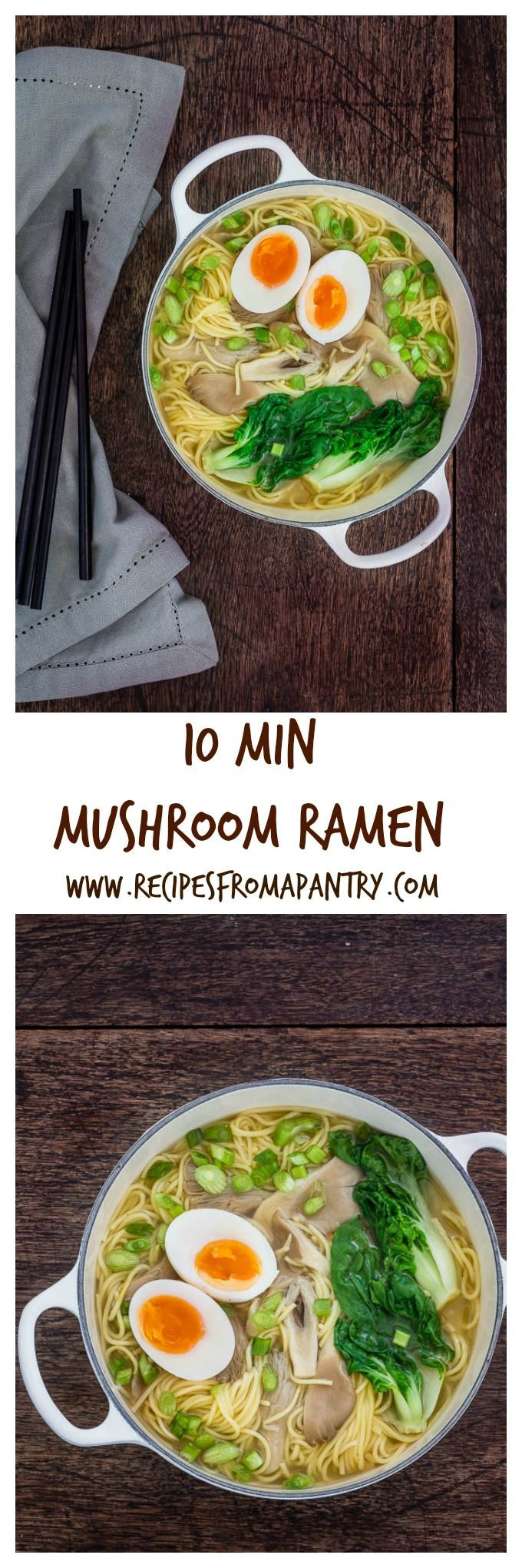 A 10 minute mushrrom ramen noodle soup | Recipes From A Pantry