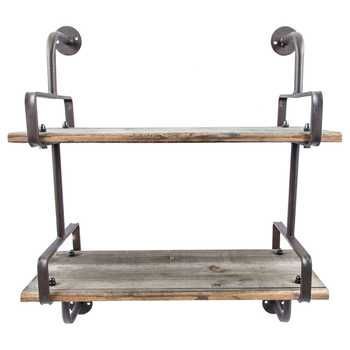 Rusty Industrial Shelf with Wood Planks- Hobby Lobby $49.99 (USE COUPON!)