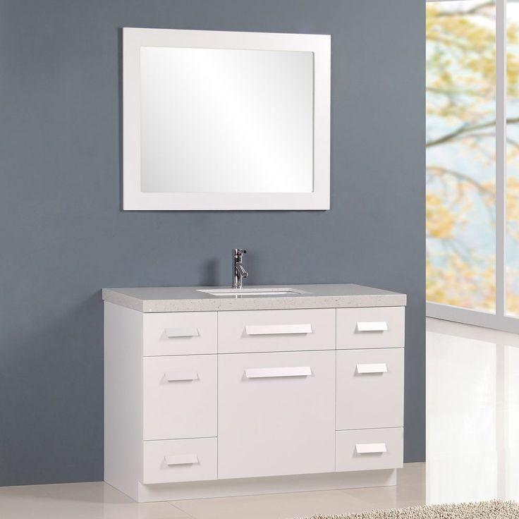 Single Sink Vanity Hardware And Porcelain Sink On Pinterest