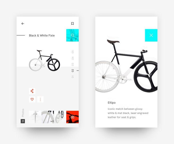 interfaz de bicicleta en blanco y negro