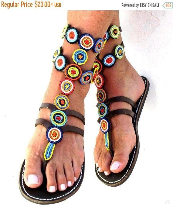c3d4ddc53 AFRICAN SANDALS, Masai Sandals, Kenyan Beaded Sandals, Gladiator Sandals,  Dress Sandals, Women Sandals, Leather Sandals, Sandals For Women, Ladies  Sandals.
