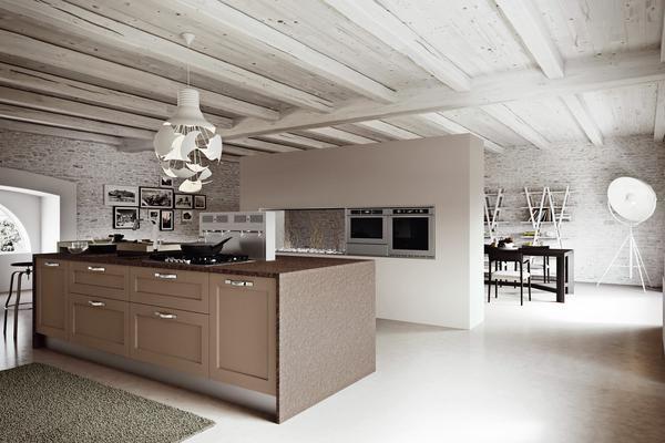 Cuisine Village est une cuisine équipée design Arrital avec îlot central présentée par le cuisiniste HLB Décor à Tournai en Belgique. Les essences de bois, merisier et frêne décapé, apportent de l'authenticité à ce modèle. Les nombreuses teintes vous permettent  d'avoir une cuisine riche en accessoires assortis. #cuisine #design #arrital #îlot #kitchenisland #cuisiniste #tournai