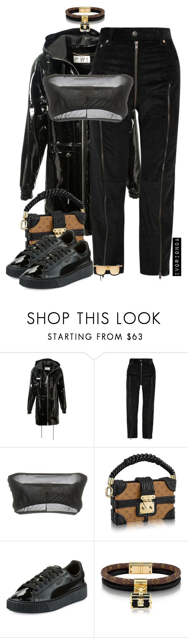 """""""io"""" by ivorionda ❤ liked on Polyvore featuring Yves Saint Laurent, Vetements, Circus Hotel, Puma and Anna-Karin Karlsson"""