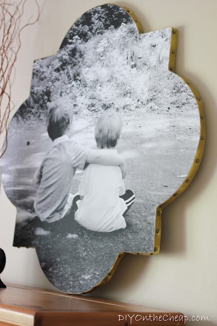 DIY On the Cheap: Quatrefoil Photo Wall Art Tutorial