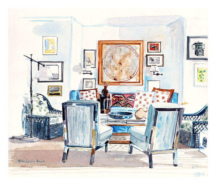 Interior Design Sketch: 54 Best Interior Design Sketches Images On Pinterest