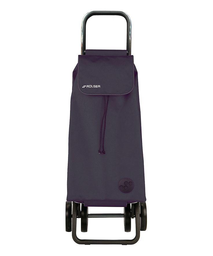 Black Four-Wheeled Foldable Shopping Trolley