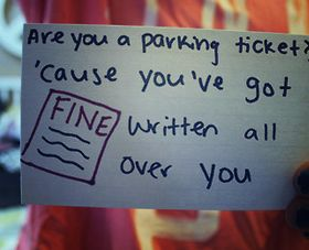Flirting pick-up lines. Funny but not a great way to actually go far in a relationship.