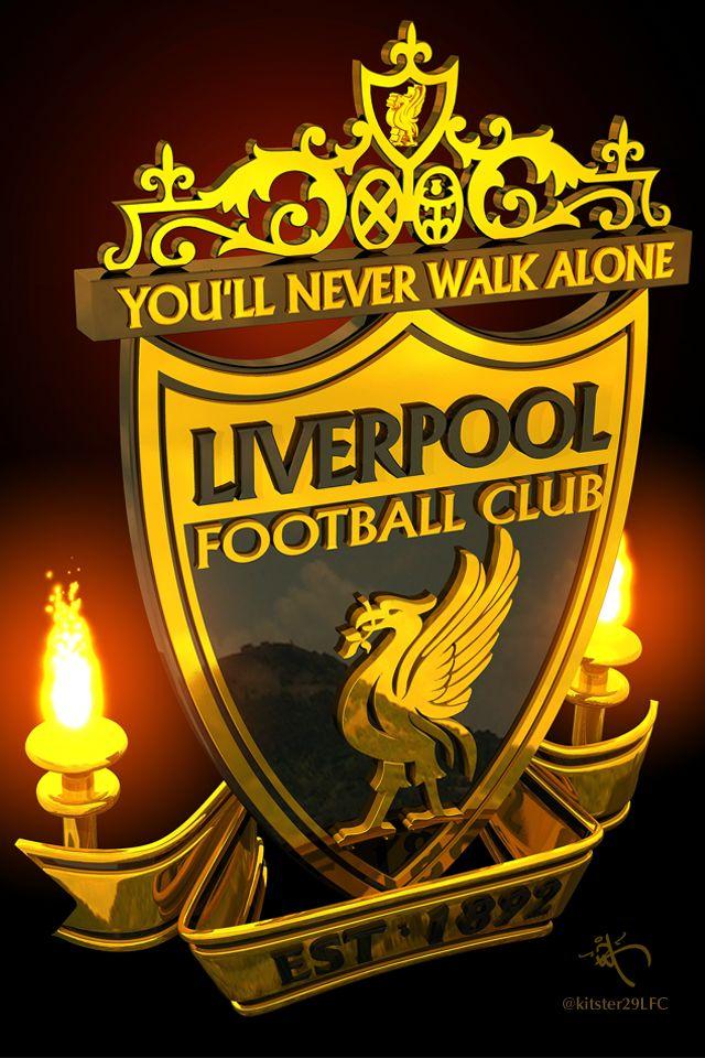 Liverpool LFC Logo Gold+Black Marble by kitster29.deviantart.com