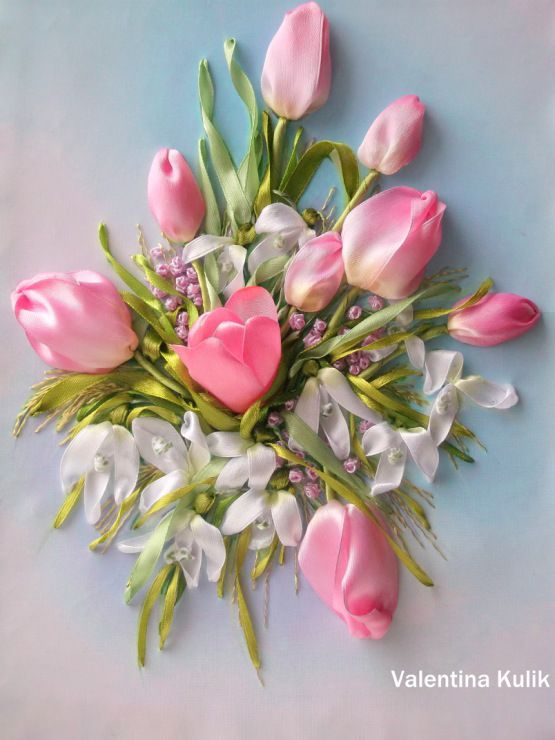 1426 Best Silk Ribbon Embroidery Images On Pinterest Ribbons Silk