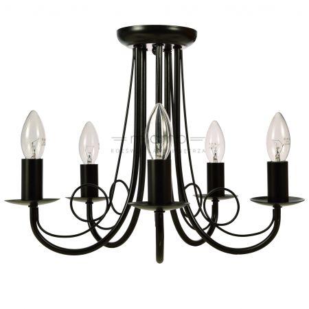 Plafon LAMPA sufitowa PERŁA LP-020/5P BK Light Prestige czarna | =mlamp.pl=