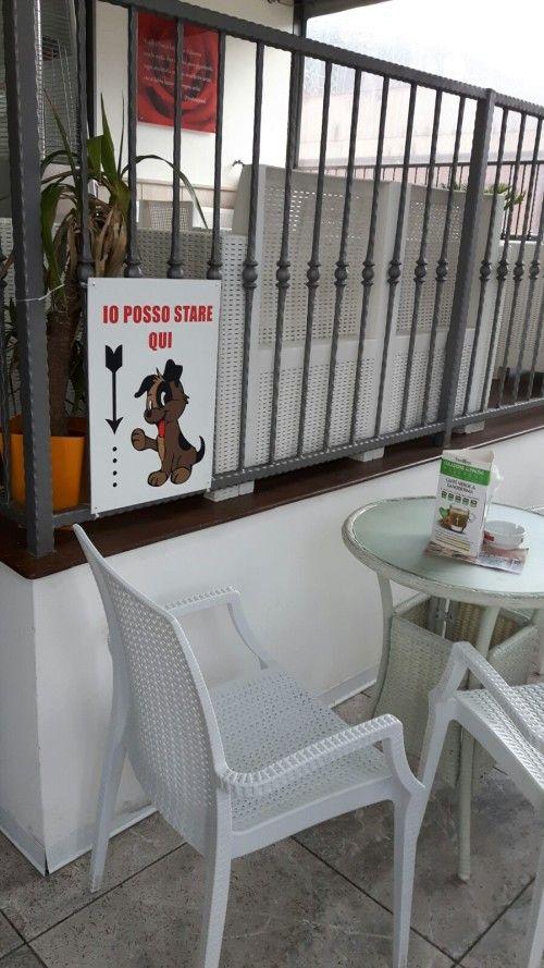 Campobasso, una parte del bistrot dedicata ai clienti col cane