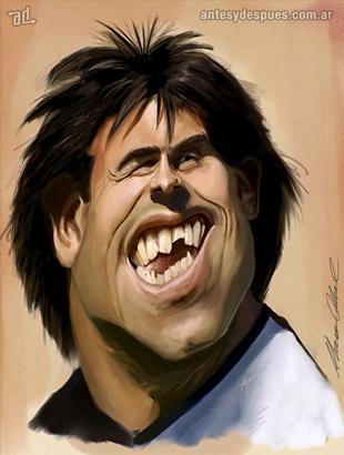 La caricatura de Carlos Tevez