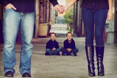 Family of Four Portrait - sibling picture - unique pose - family pictures