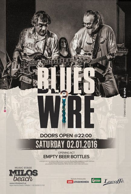 Blues Wire Live (event poster)