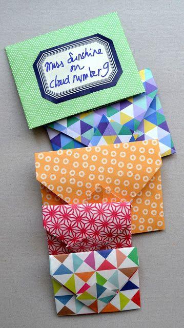 DIY September: origami envelopjes