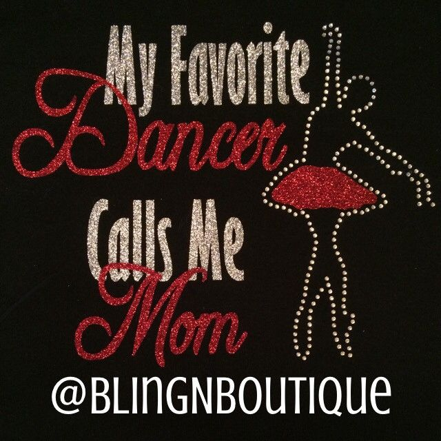Show support for your favorite dancer with this cute shirt. The words are in your choice of glitter colors with a graceful ballerina dancing to the side with a matching tutu. Add your dancer's name to