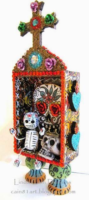 FRIENDS in ART: DOTD Mini Shrine Swap from Retro Cafe Art