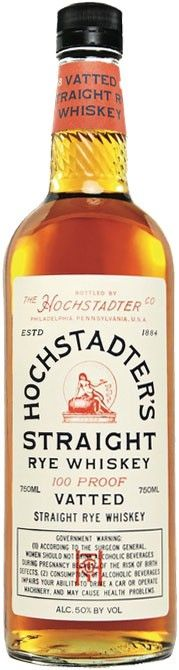 This straight rye is a blend of four-to-eight year old whiskeys sourced from all across America. Hochstadter's Vatted Straight Rye Whiskey | @Caskers
