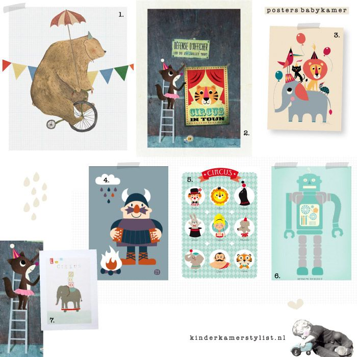 Lovely Posters #kidsroom Nr 3 & 4 from www.kidsdinge.com #Ingela animal parade & Viking