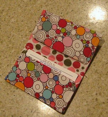 Delilah's Momma - Work, Play, Eat!: Fabric Business / Gift Card Holder