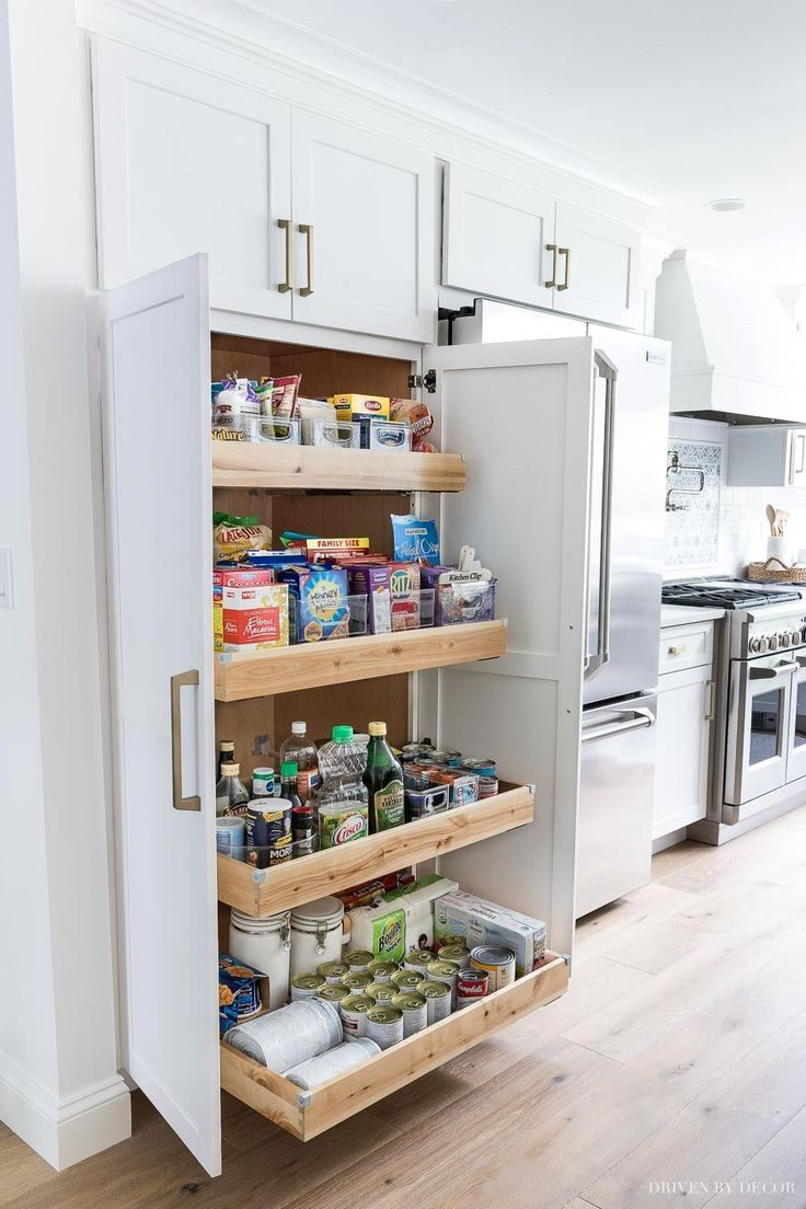 Four Months Of Living In A Dust Bowl Without A Kitchen Two Huge Winter Storms Leaving Us Without Power For Days A Conveyer Belt Moving Bu Kitchen Cabinet Storage Pantry Design