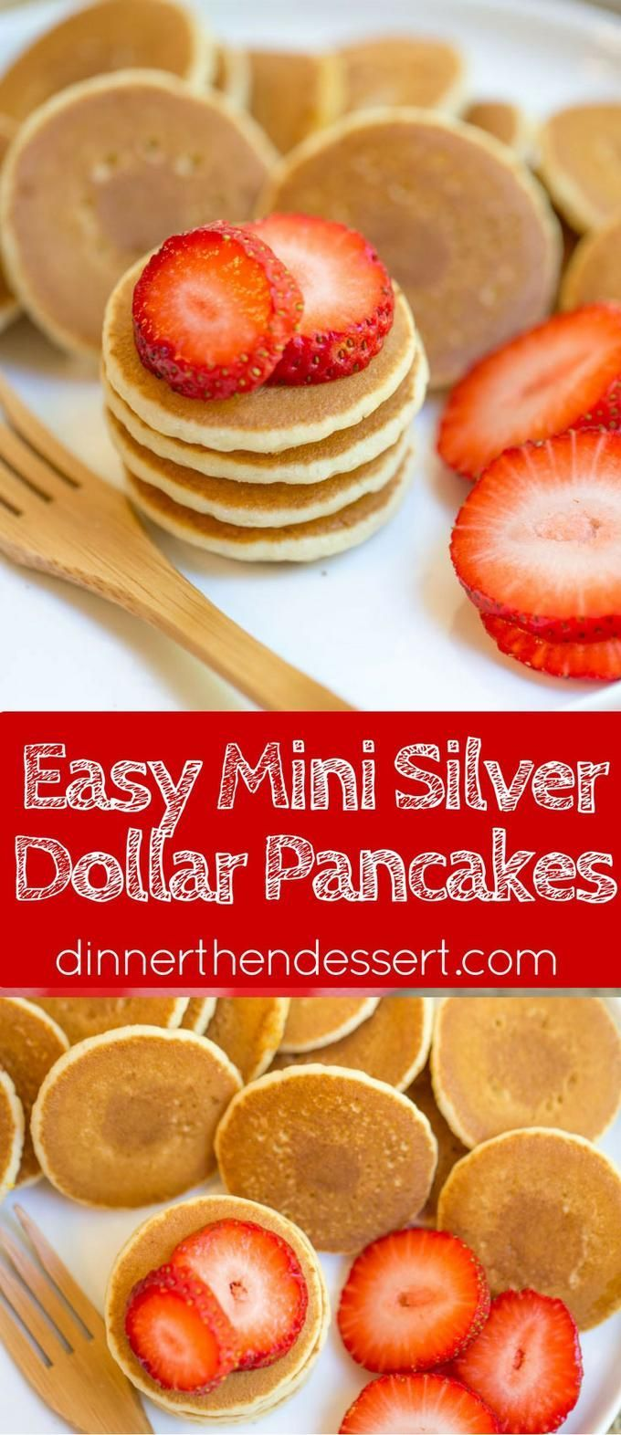 Mini Pancakes, sometimes called Silver Dollar are the easiest quickest little pancake bites that are perfect for parties,…