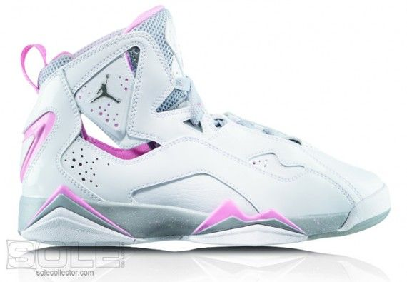 Girls Jordan TruFlt Wht MetSil WlfGry PerfPnk 570x395 Jordan Brand Boys & Girls Footwear for 2010
