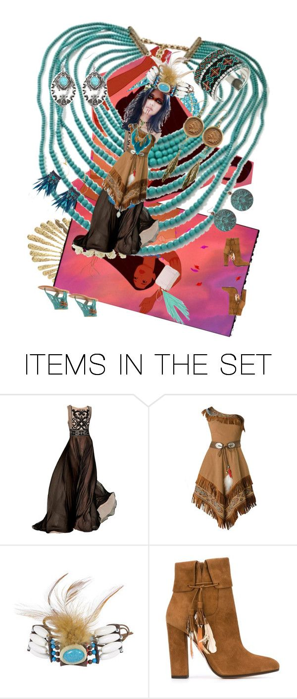 """""""Indian Princess"""" by anastasia-pellerin ❤ liked on Polyvore featuring art, contest and princess"""