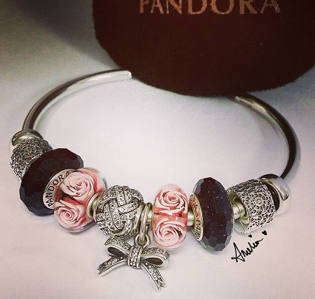 Pandora Fascinating Aventurescent (disc.) & Trollbeads Mother's Day Rose (2015 limited edition)