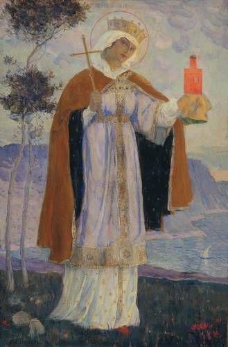 Holy Equal-to-the-Apostles Olga - Mikhail Nesterov