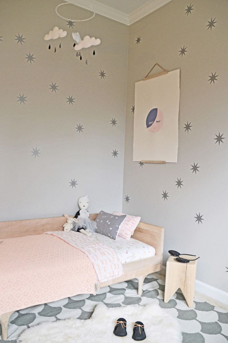 Gray + pink cloud inspired room: http://www.stylemepretty.com/living/2016/03/28/43-of-the-cutest-kids-rooms-the-internet-has-ever-seen/