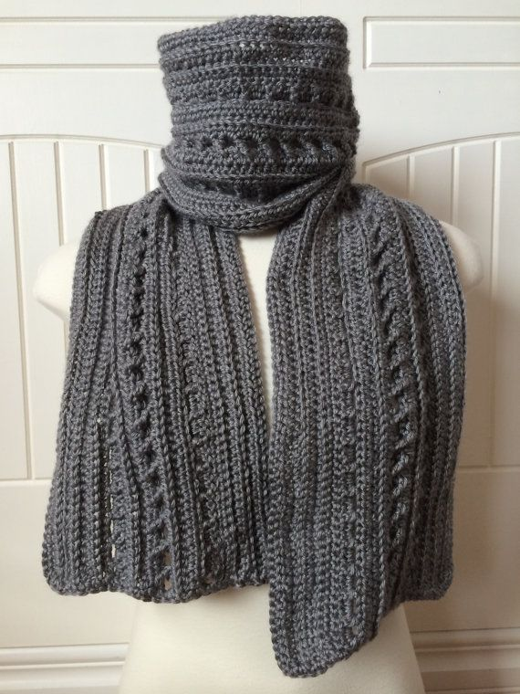 Crochet Scarf Pattern - Backwoods Boyfriend Scarf - 2-in-1 Men's Scarf Pattern…